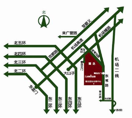 北京蟹岛会议楼交通图